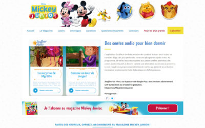 Article dans Mickey Junior